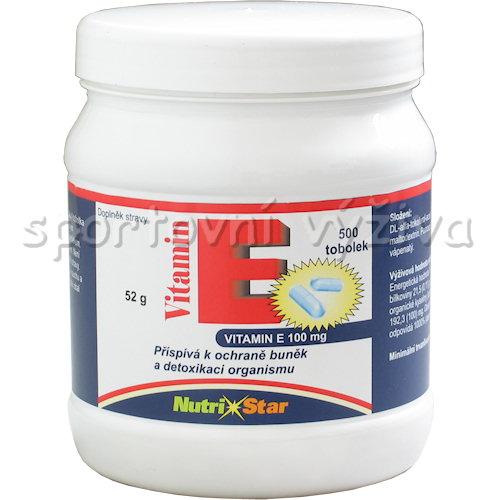Vitamín E 100mg 500 kapslí