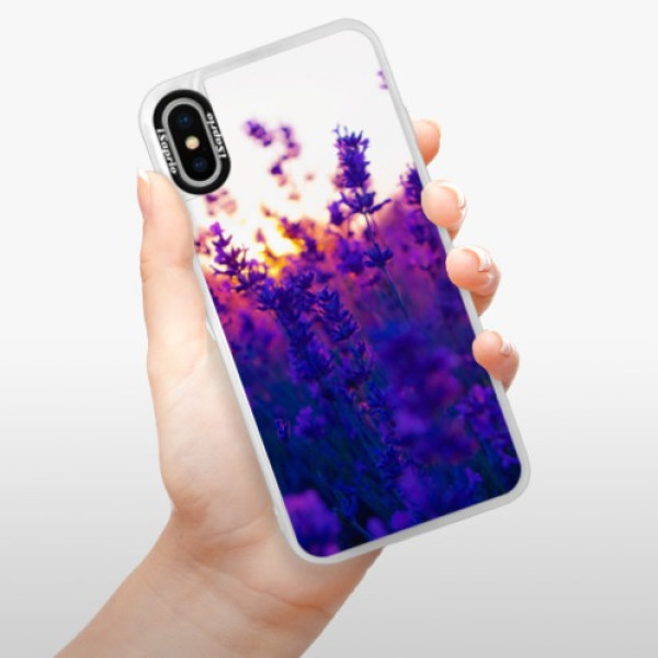 Neonové pouzdro Blue iSaprio - Lavender Field - iPhone X