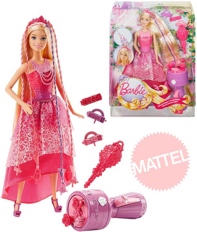 MATTEL BRB BARBIE Kouzelné extra dlouhé 20cm vlasy set panenka princezna s doplňky