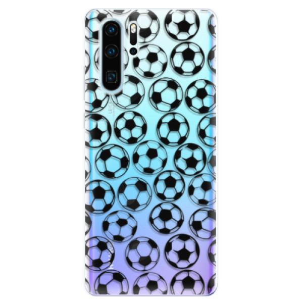 Odolné silikonové pouzdro iSaprio - Football pattern - black - Huawei P30 Pro