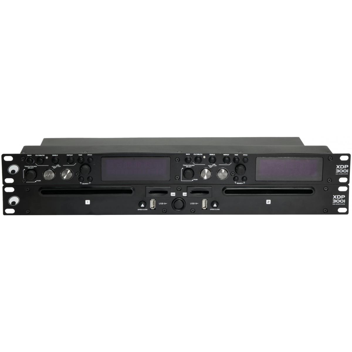 Omnitronic XDP-3001 Duální přehrávač CD/MP3