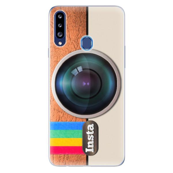 Odolné silikonové pouzdro iSaprio - Insta - Samsung Galaxy A20s