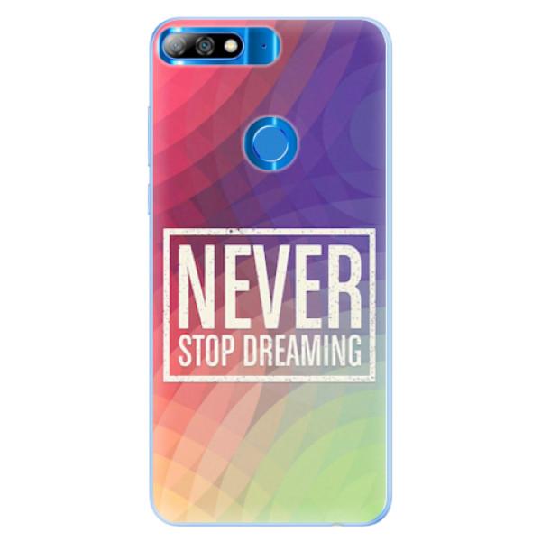 Silikonové pouzdro iSaprio - Dreaming - Huawei Y7 Prime 2018