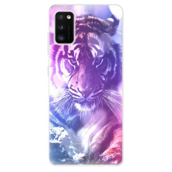 Odolné silikonové pouzdro iSaprio - Purple Tiger - Samsung Galaxy A41
