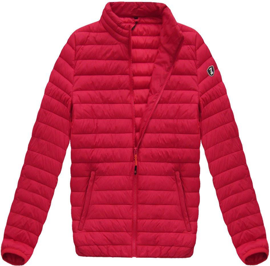 Červená pánská prošívaná bunda (B1257)