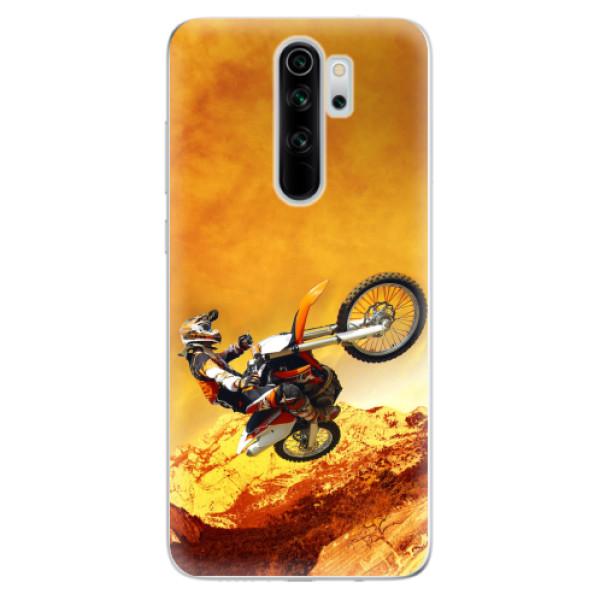 Odolné silikonové pouzdro iSaprio - Motocross - Xiaomi Redmi Note 8 Pro