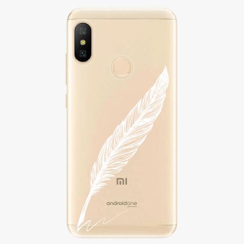 Silikonové pouzdro iSaprio - Writing By Feather - white - Xiaomi Mi A2 Lite