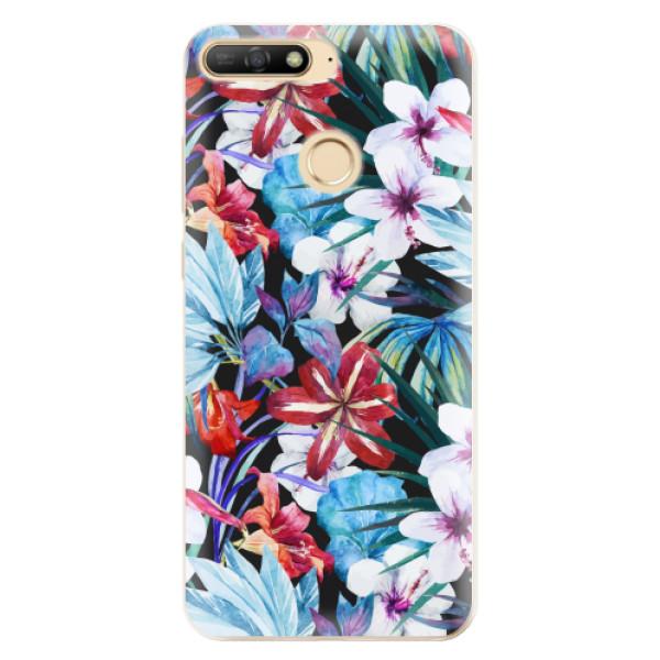 Odolné silikonové pouzdro iSaprio - Tropical Flowers 05 - Huawei Y6 Prime 2018