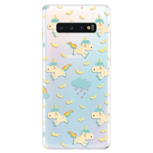 Odolné silikonové pouzdro iSaprio - Unicorn pattern 01 - Samsung Galaxy S10+
