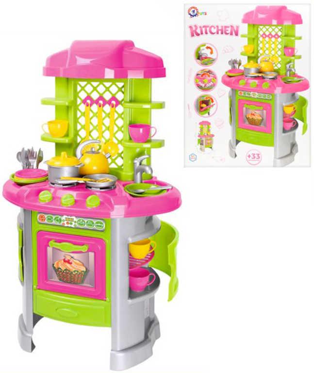 Kuchyňka dětská kuchyňské studio herní set s doplňky 33ks plast