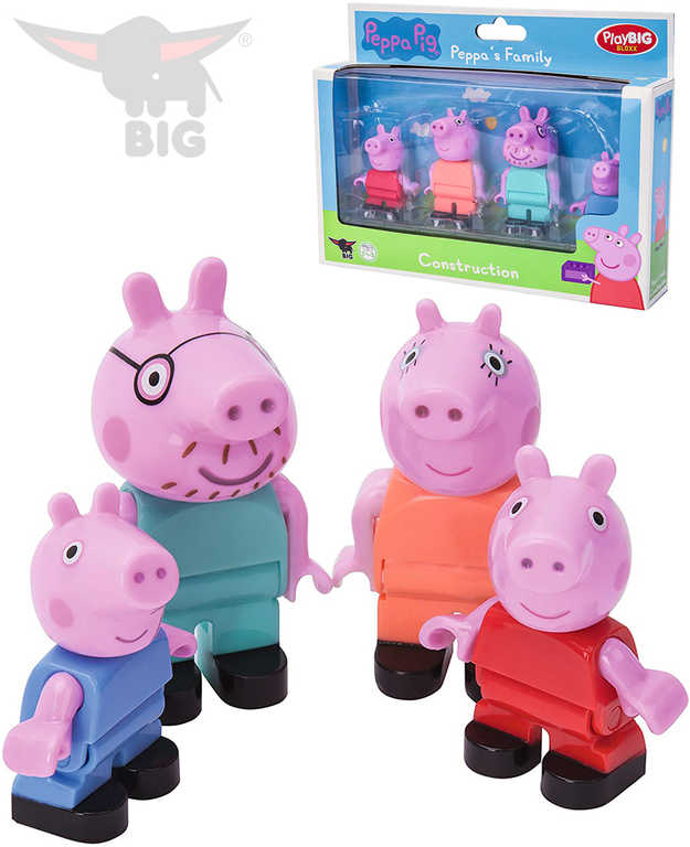 PlayBIG BLOXX Peppa Pig rodina set 4 figurky doplněk ke stavebnici plast