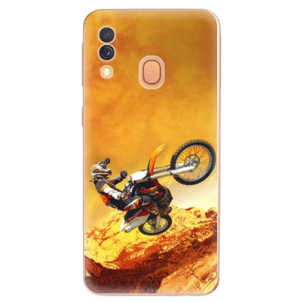Odolné silikonové pouzdro iSaprio - Motocross - Samsung Galaxy A40