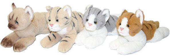 PLYŠ Kočka ležící 16 cm - 4 druhy