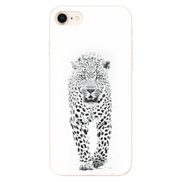 Odolné silikonové pouzdro iSaprio - White Jaguar - iPhone 8