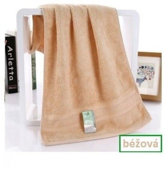 Bambusový ručník - 34 x 75 cm - 1ks - Hnědý
