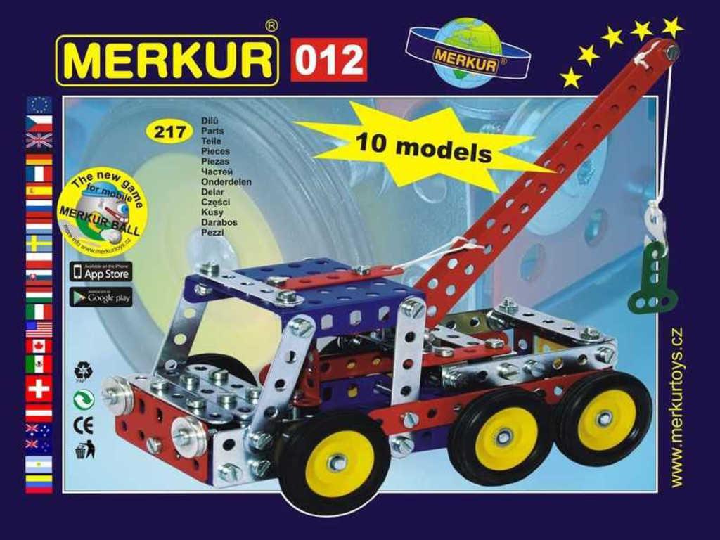 MERKUR 012 Odtahové vozidlo * KOVOVÁ STAVEBNICE *