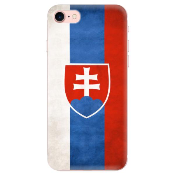 Odolné silikonové pouzdro iSaprio - Slovakia Flag - iPhone 7