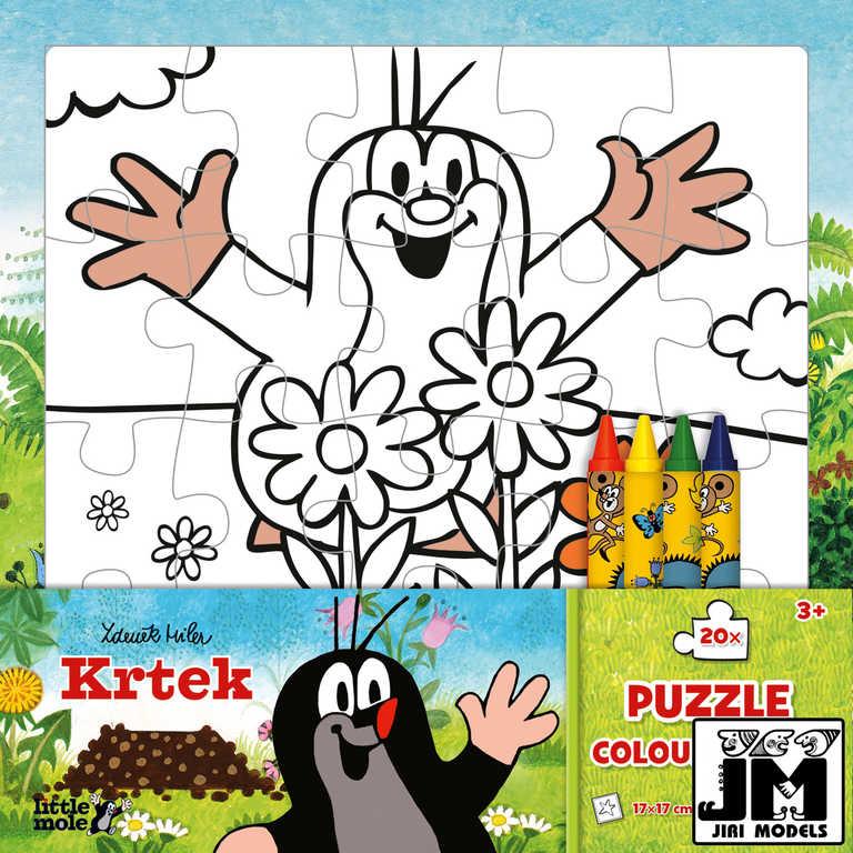 JIRI MODELS Omalovánky puzzle s voskovkami Krtek (Krteček)
