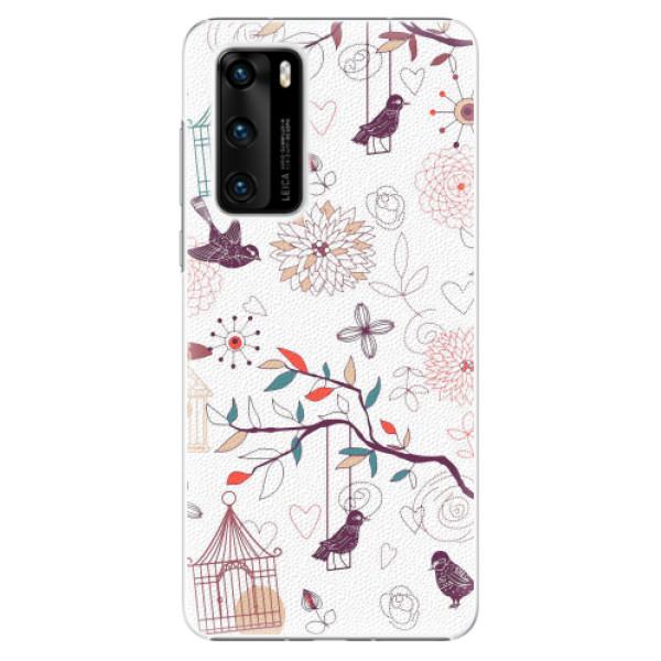 Plastové pouzdro iSaprio - Birds - Huawei P40