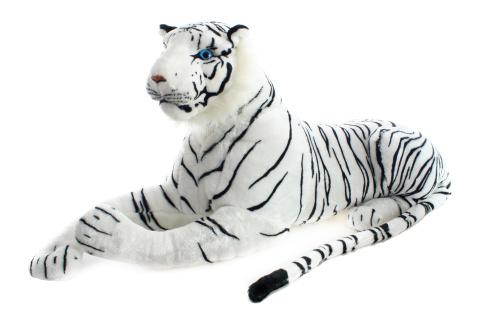 Plyš Tygr bílý 110 cm