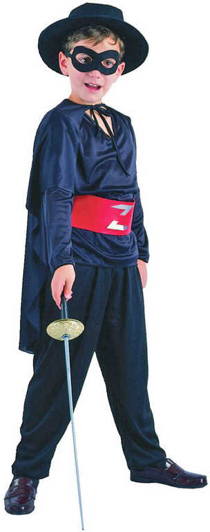 KARNEVAL Šaty BANDITA vel. M (120-130 cm) 5-9 let KOSTÝM