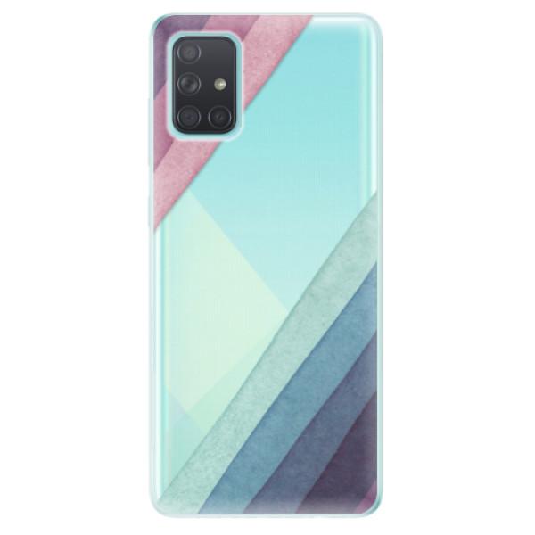 Odolné silikonové pouzdro iSaprio - Glitter Stripes 01 - Samsung Galaxy A71
