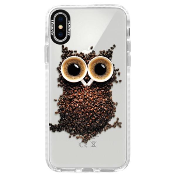 Silikonové pouzdro Bumper iSaprio - Owl And Coffee - iPhone X