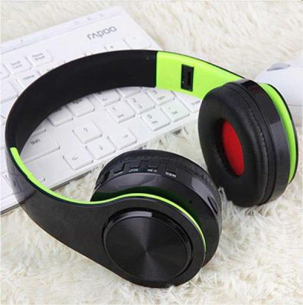 Bluetooth náhlavní sluchátka Tourya B7 - Černá-zelená