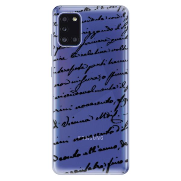 Odolné silikonové pouzdro iSaprio - Handwriting 01 - black - Samsung Galaxy A31
