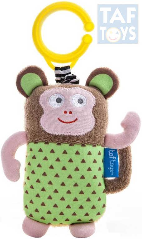 TAF TOYS Baby opička Marco chrastítko vibruje na natažení pro miminko