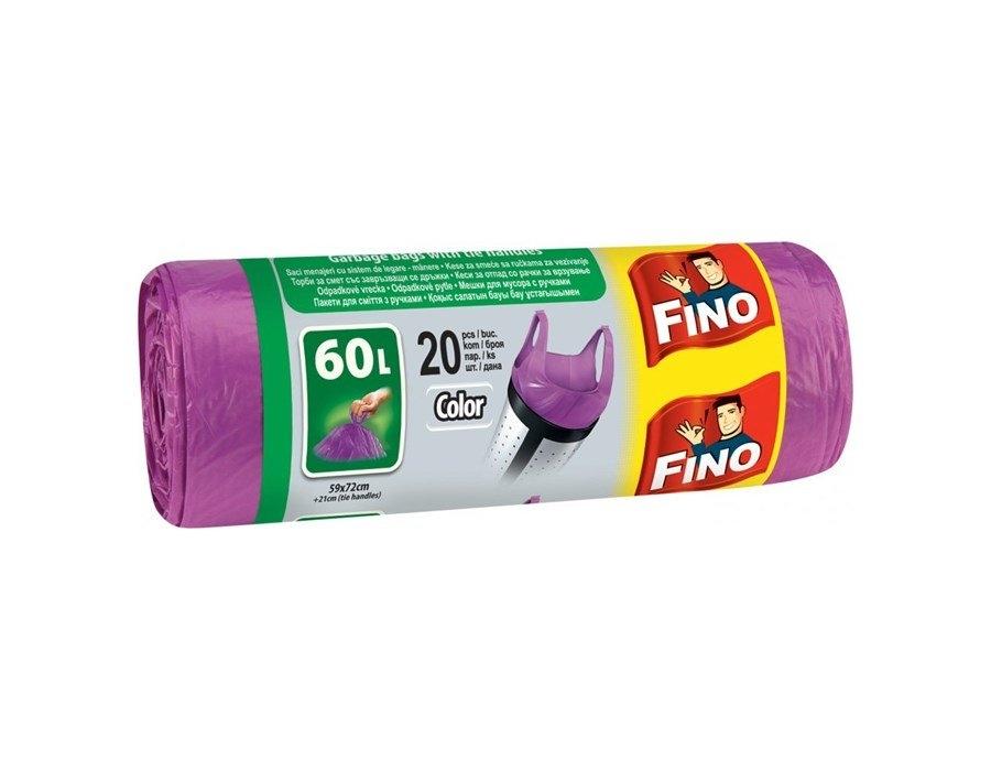 Pytle na odpad 60 L barevné fialové s uchy, 20 ks