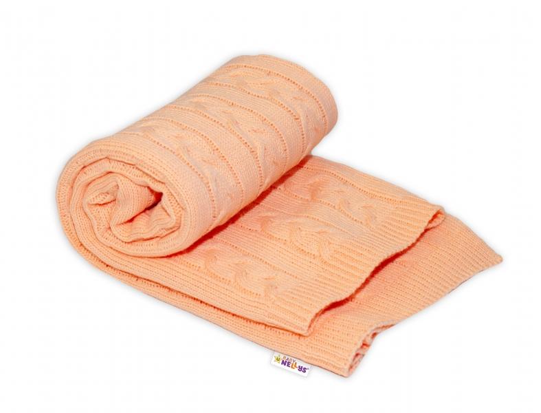 Dětská akrylová deka, dečka Baby Nellys, 110 x 50 cm - meruňková