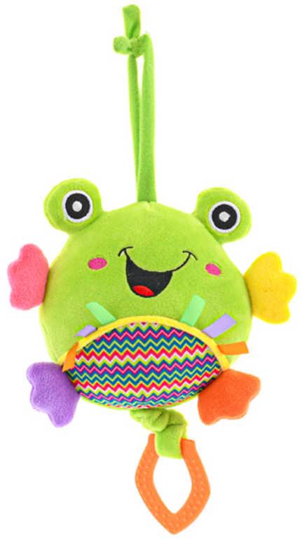 PLYŠ Baby žába 13cm hrací strojek usínáček na natažení pro miminko