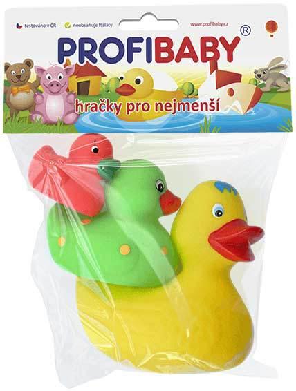 PROFIBABY Baby kačenky barevné do vody set 3ks pro miminko