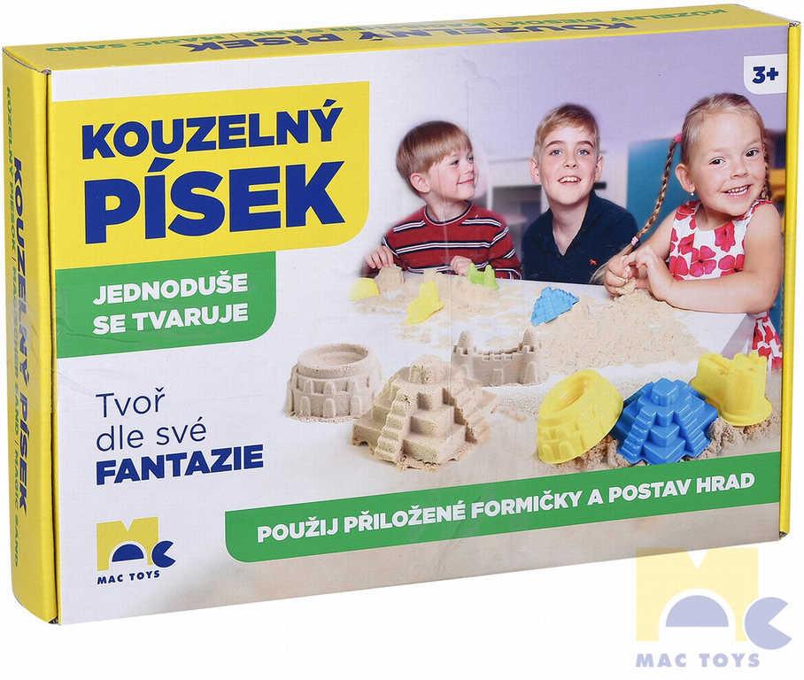 MAC TOYS Písek kouzelný set s bábovičkami v krabici