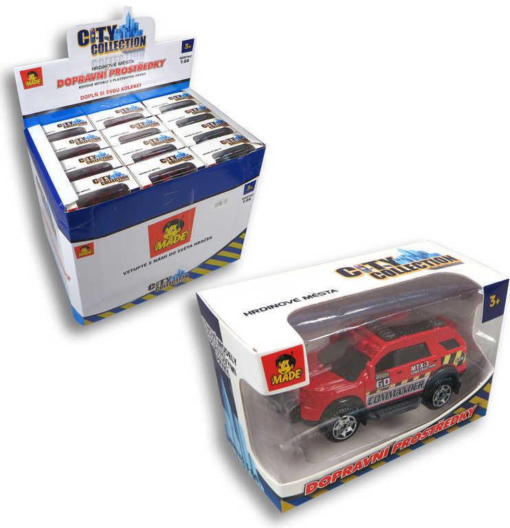 Auto City Collection 11cm dopravní prostředky 12 druhů Světlo Zvuk kov