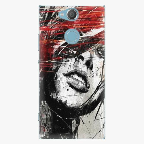 Plastový kryt iSaprio - Sketch Face - Sony Xperia XA2
