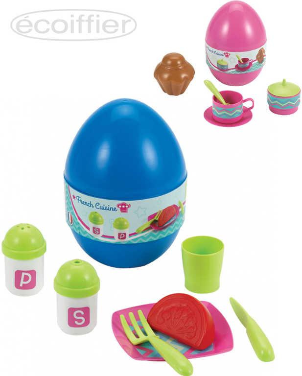 ECOIFFIER Baby set jídelní překvapení ve vajíčku různé druhy plast pro miminko