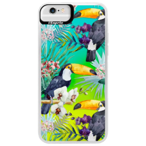Neonové pouzdro Blue iSaprio - Tucan Pattern 01 - iPhone 6 Plus/6S Plus