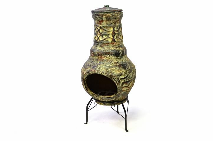 TERA Venkovní zahradní terakotový krb 73 cm