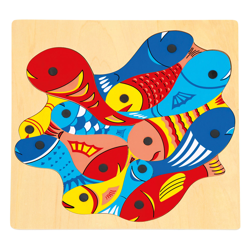 Rybičky s udičkou-puzzle