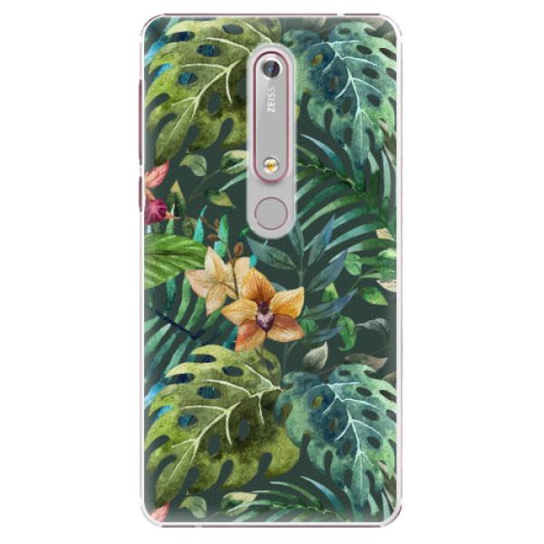 Plastové pouzdro iSaprio - Tropical Green 02 - Nokia 6.1