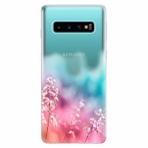 Silikonové pouzdro iSaprio - Rainbow Grass - Samsung Galaxy S10