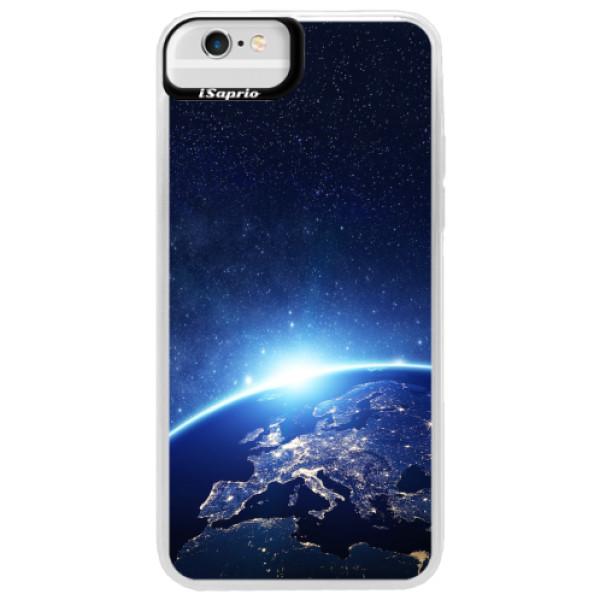 Neonové pouzdro Blue iSaprio - Earth at Night - iPhone 6 Plus/6S Plus