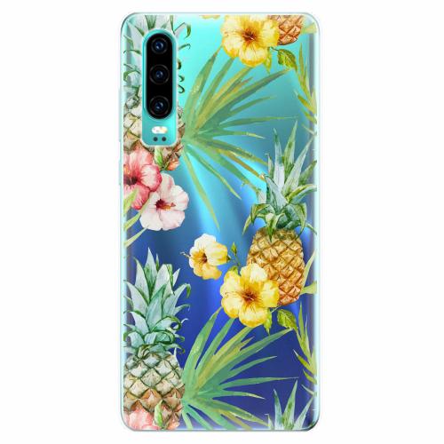 Silikonové pouzdro iSaprio - Pineapple Pattern 02 - Huawei P30
