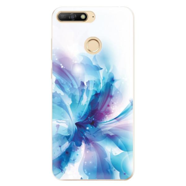 Odolné silikonové pouzdro iSaprio - Abstract Flower - Huawei Y6 Prime 2018