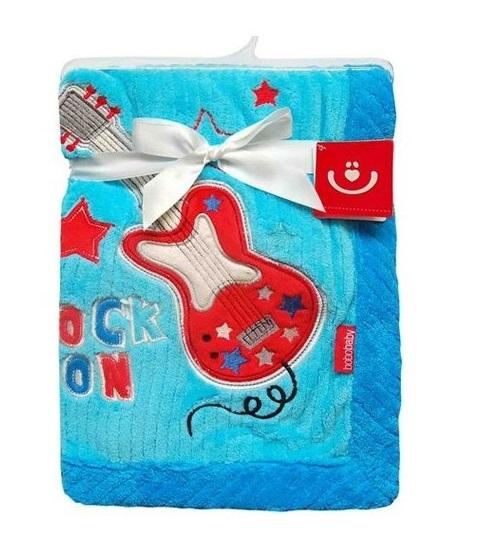 bobo-baby-detska-deka-v-darkove-krabicce-76x102-cm-kytara-modra