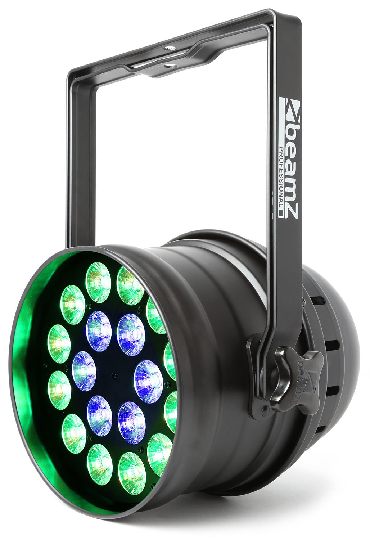 BeamZ LED PAR 64 reflektor 18x 15W RGBAW, IR, DMX