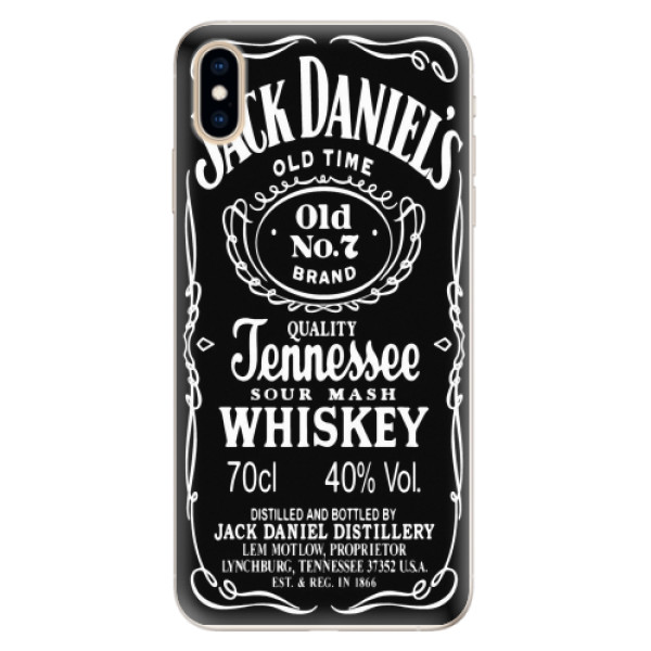 Silikonové pouzdro iSaprio - Jack Daniels - iPhone XS Max