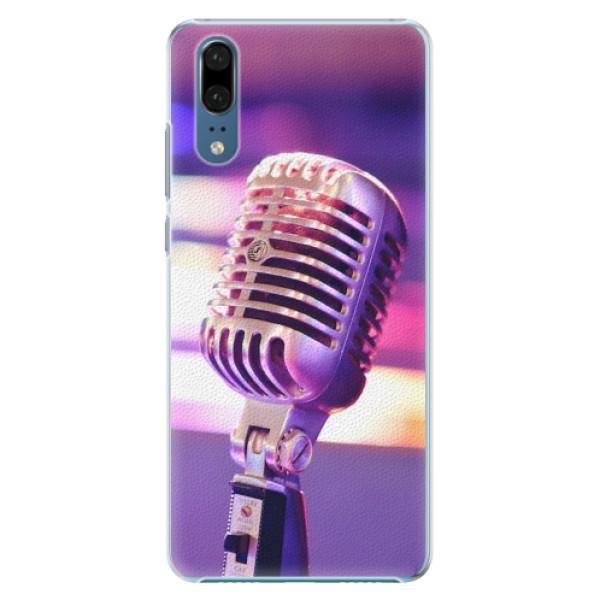 Plastové pouzdro iSaprio - Vintage Microphone - Huawei P20